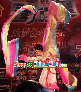 10 Meters Long Color Transition Flowing Silk Dancing Ribbon