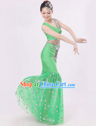 Thailand Peacock Dance Costumes for Women