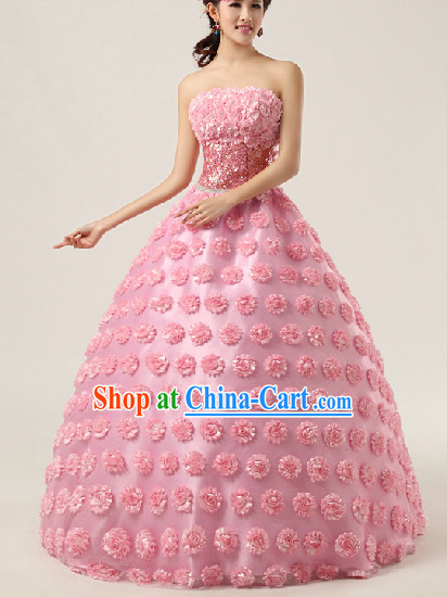 Enchanting Effect Romantic Wedding Dresses and Headwear Complete Set for Women