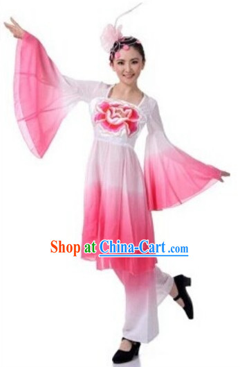 Water Sleeves Traditional Classical Dancewear for Girls