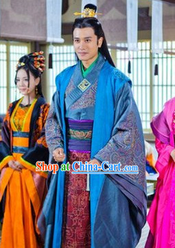 Ancient Chinese King's Son Costumes Complete Set for Men
