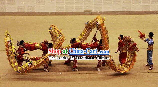 Supreme Chinese New Year Parade Chongqing Tongliang Dragon Dance Costumes Complete Set
