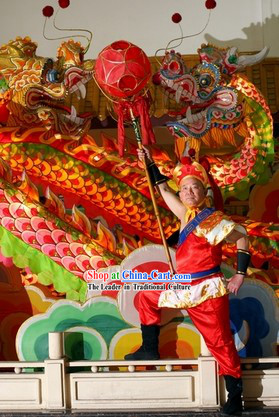 Supreme Chinese Parade Chongqing Dragon Dance Costumes Complete Set