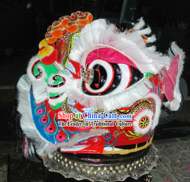 Hand Painted Dragon Fut San Lion Dance Costumes Complete Set