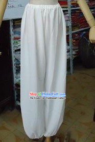 Traditional Chinese White Pants