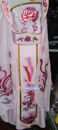 Traditional Chinese Opera Stage Performance High Collar Empress Costumes