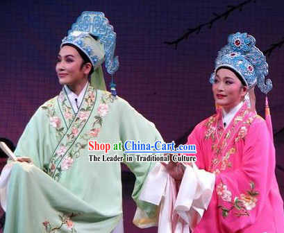 Traditional Chinese Liang Zhu Butterfly Love Costumes for Men and Women