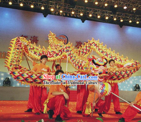 Professional Stage Performance Luminous Dragon Dance Music and Costume Complete Set