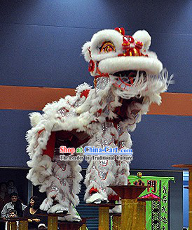 Professional Competition Lion Dance Head and Costume Complete Set