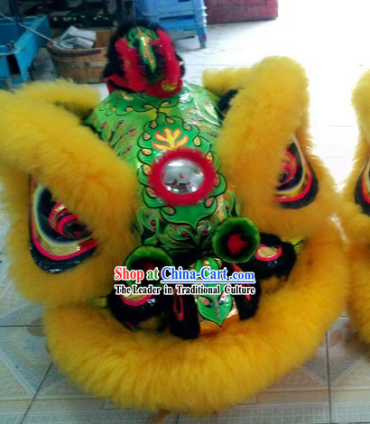 Well Handmade and Painted Hok San Lion Dance Costumes Complete Set