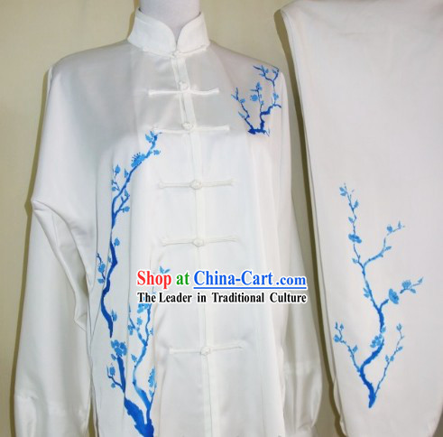 Hand Painted Plum Blossom Martial Art Dresses, Sportswear & Accessories