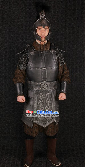 Ancient Chinese Film Costumes Design Armor Clothing Complete Set for Men