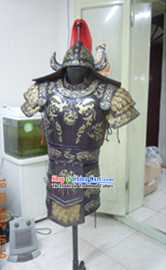 Ancient Chinese Military Armour Clothes and Helmet Complete Set for Adults