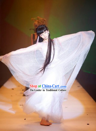 Traditional Chinese Spring Festival Gala Xiao Cai Qi Young Flag Dance Costumes Complete Set