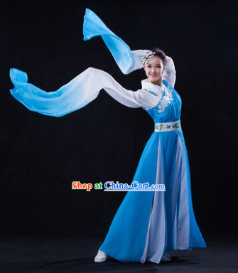 Professional Stage Performance Blue Shui Xiu Classical Dancing Costumes