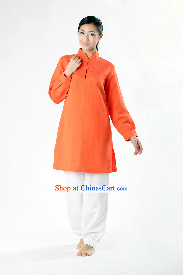 Top Comfortable Mandarin Collar Meditation Yoga Tea-making Kung Fu Master Dresses Complete Set