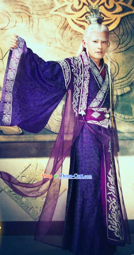 Legend of Ancient Sword Purple Kung Fu Master Suit Complete Set