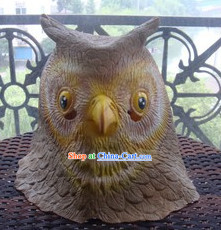 Stage Performance Owl Head Mask