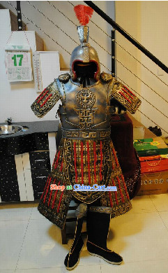 Jackie Chan Style Ancient General Armor Clothes Costumes and Hat Complete Set