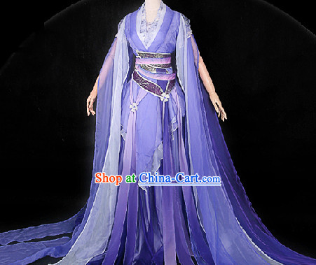 Ancient Chinese Purpel Fairy Han Fu Guzhuang Clothing Complete Set