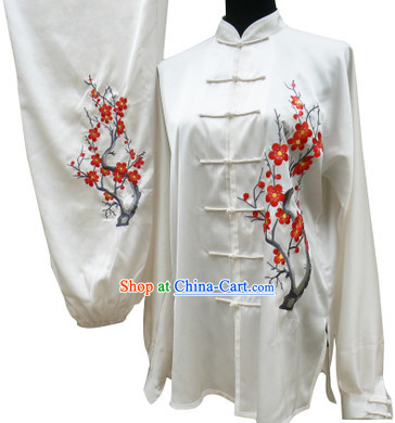 Top Silk Plum Blossom Kung Fu Outfit