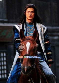 Period of the Northern and Southern Dynasties Chinese Costume Hua Mulan Legend Khan Prince Clothing Complete Set for Men