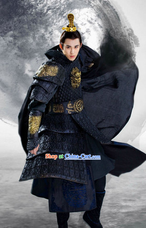 Chinese Costumes Lanling Queen China TV Drama Prince Armor Suit Period of the Northern and Southern Dynasties Complete Set