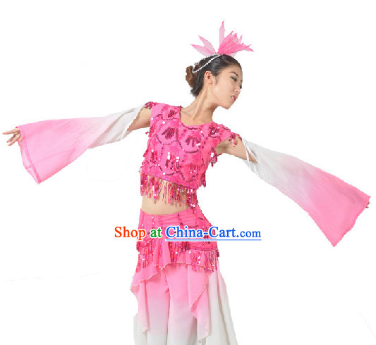 Chinese Classical Dancing Costumes and Hat for Women