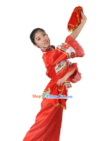 professional Fan Dance Team Costumes for Girls