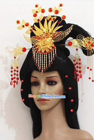 Empress Lace Wig and Hair Decorations