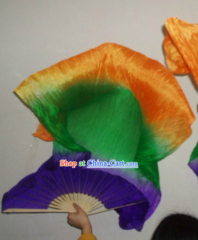 Professional Performance 59 Inches Long Silk Dancing Fans