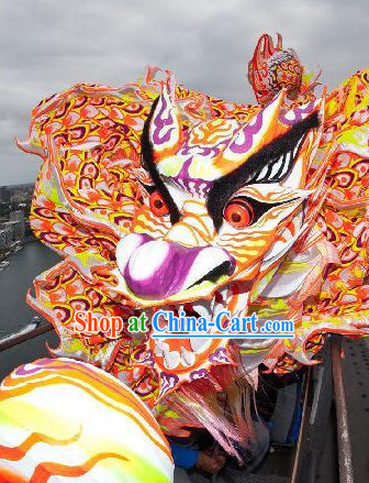 Guangdong Southern Fluroescent Lights Dragon Dancing Equipments Complete Set