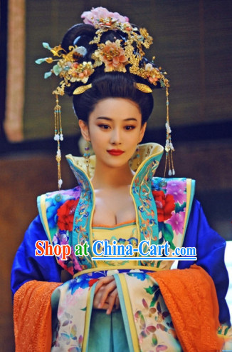 Chinese Empress Clothing Clothes and Hair Accessories online Complete Set