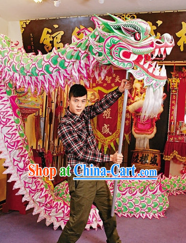 Luminous Chinese Dragon Mask Costumes Complete Set for 10 People
