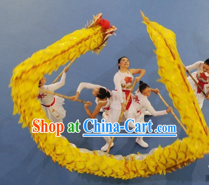 Gold Chinese New Year Adult Dragon Costume Complete Set