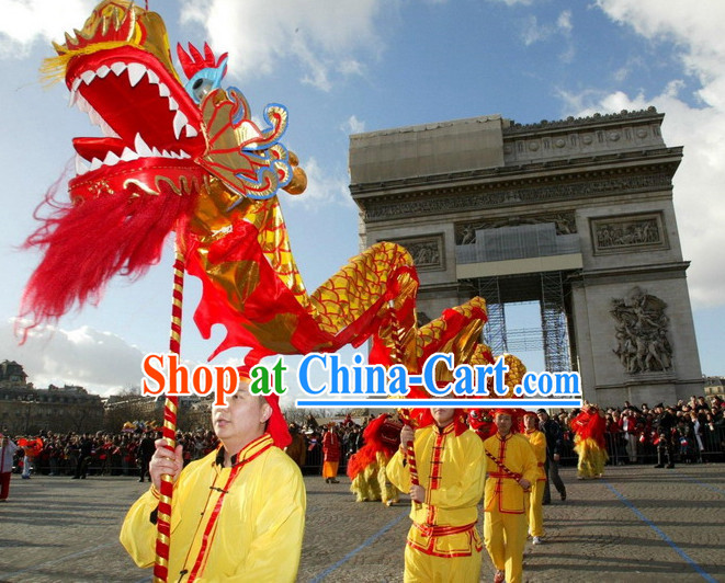 Traditional Beijing Dragon Dance Costume Complete Set