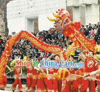 Red Dragon Dance Equipment Complete Set for Ten People