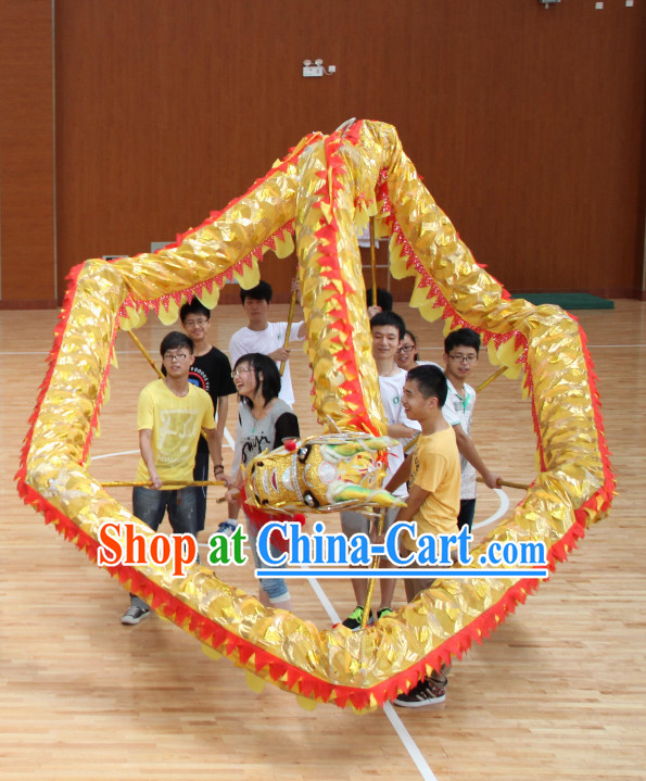Lightweight Competiton and Parade Dragon Dancing Equipment Complete Set for 10 People