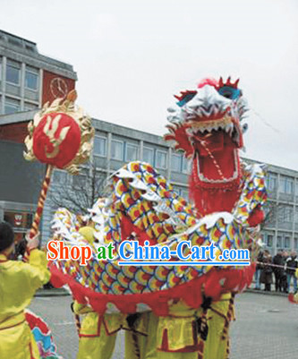 NEW Handmade Peking Dragon Masks Complete Set for 6 People
