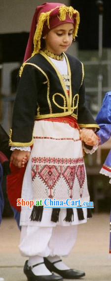 Traditional Greek Kids Costumes
