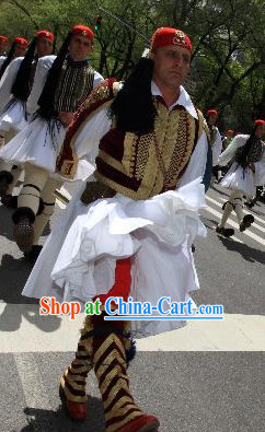 Traditional Greek Solider Costumes Complete Set