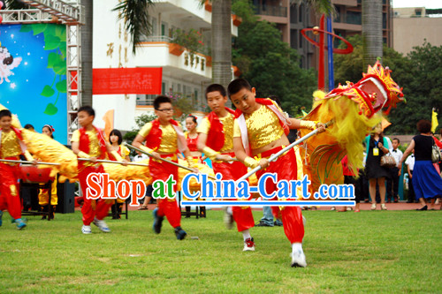 Chinese New Year Dragon Costume Complete Set for Primary School Children