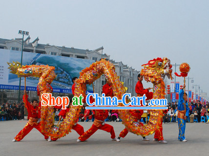 18 Meters 10 People Olympic Games Dragon Dance Equipments Complete Set for Kids