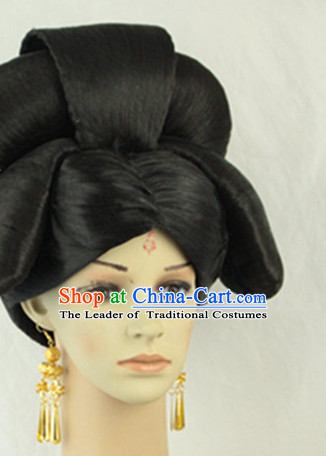 Ancient Chinese Empress Black Wigs