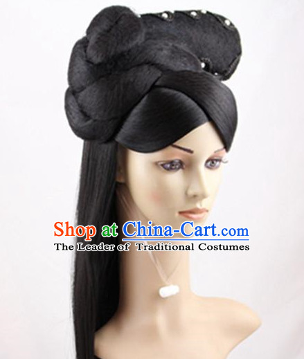 Ancient Chinese Palace Lady Black Wigs
