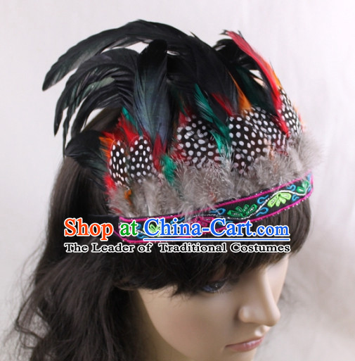 Made to Order Handmade Chinese Feather Hair Accessories Hairpieces