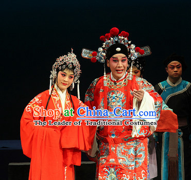 Chinese Opera Peking Opera Cantonese Opera Classic Wedding Costumes and Headwear Complete Set