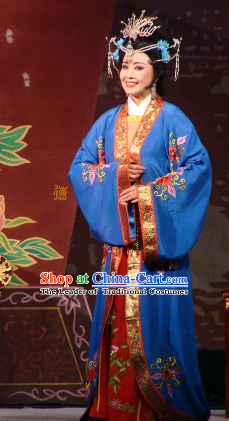 Chinese Opera Peking Opera Cantonese Opera Ancient Chinese Rich Lady Costumes and Hair Accessories Complete Set