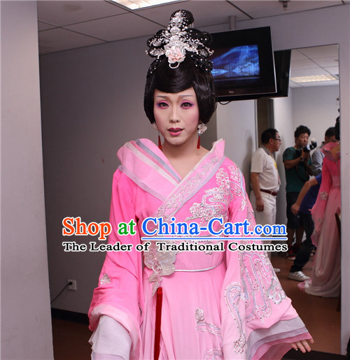 Chinese Opera Peking Opera Cantonese Opera Ancient Chinese Beauty Xi Shi Wigs and Hair Jewelry Set