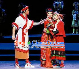 Chinese Opera Peking Opera Cantonese Opera Ancient Chinese Male Labour Costumes and Headwear Complete Set